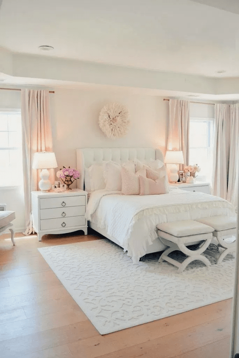 Beautiful Pink Bedroom Decor Ideas Looks Romantic 27
