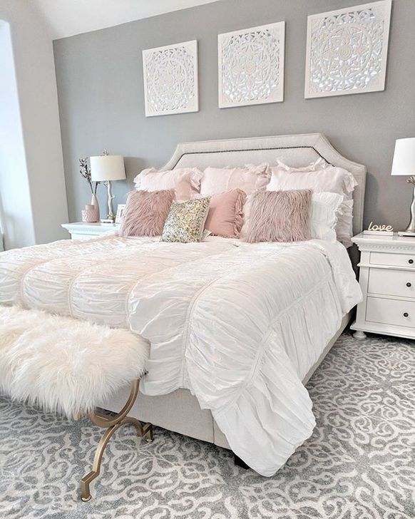 Beautiful White Bedroom Design And Decor Ideas 23