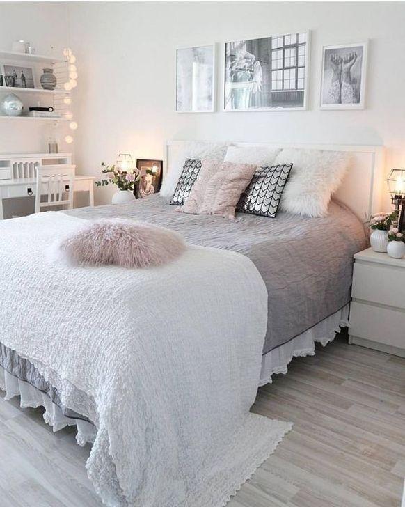 Beautiful White Bedroom Design And Decor Ideas 24