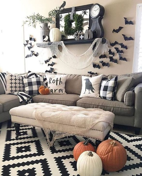 Fabulous Fall Living Room Decor Ideas To Feel Comfortable At Home 12