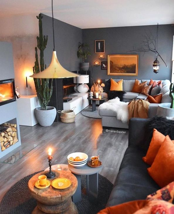 Fabulous Fall Living Room Decor Ideas To Feel Comfortable At Home 17