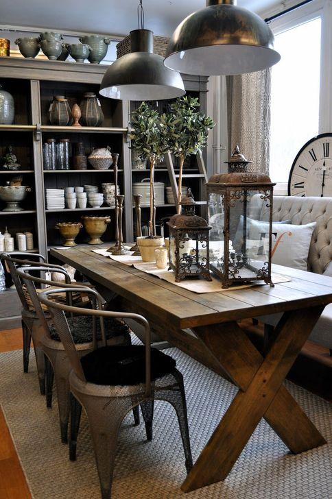 Gorgeous Rustic Dining Room Design Ideas 14