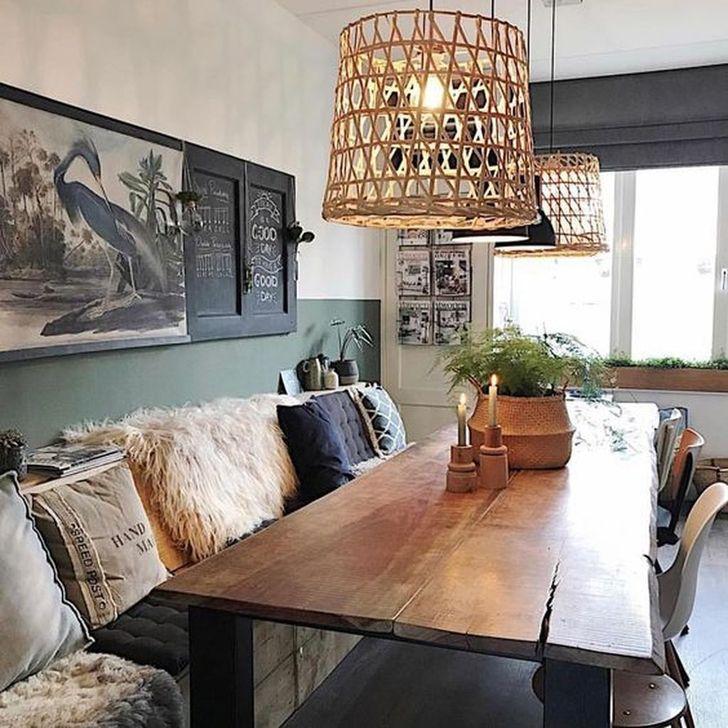 Gorgeous Rustic Dining Room Design Ideas 15