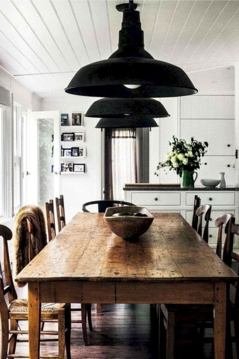Gorgeous Rustic Dining Room Design Ideas 17