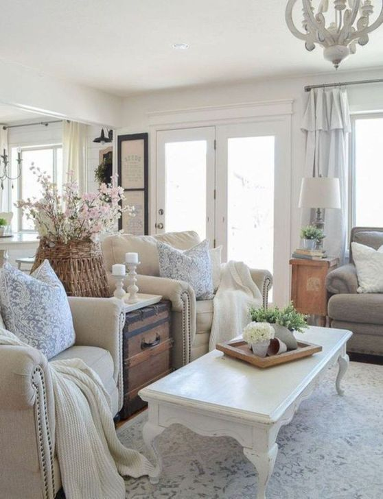 Gorgeous Shabby Chic Living Room Design And Decor Ideas 01