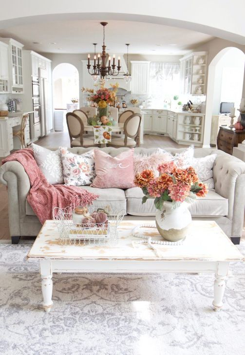 Gorgeous Shabby Chic Living Room Design And Decor Ideas 02