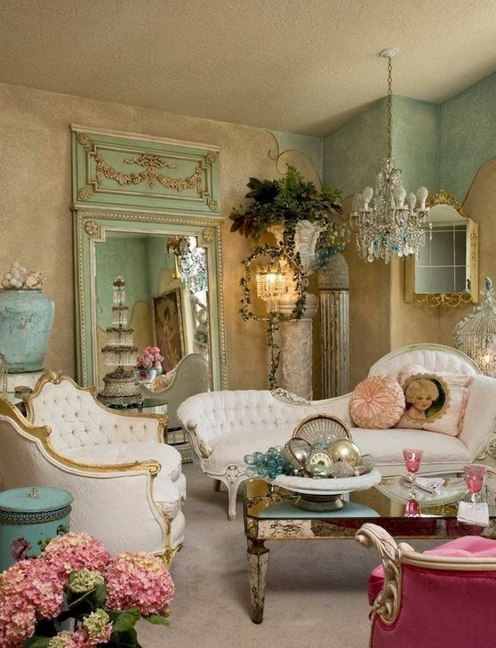 Gorgeous Shabby Chic Living Room Design And Decor Ideas 09