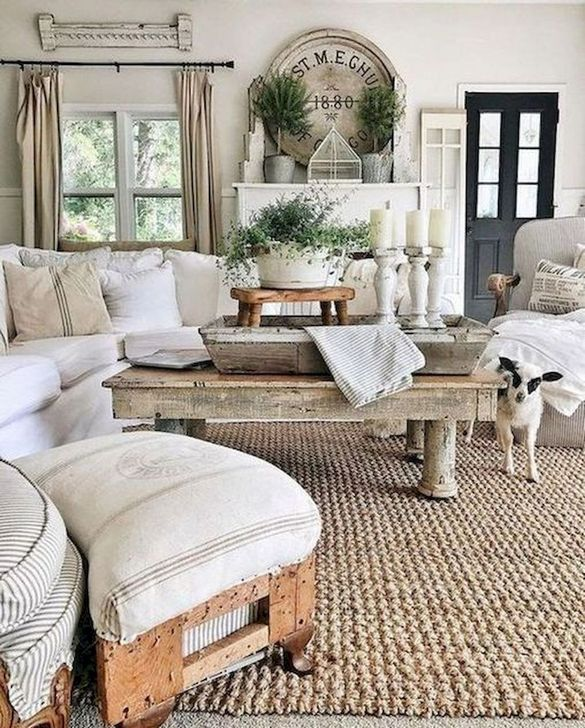 Gorgeous Shabby Chic Living Room Design And Decor Ideas 21
