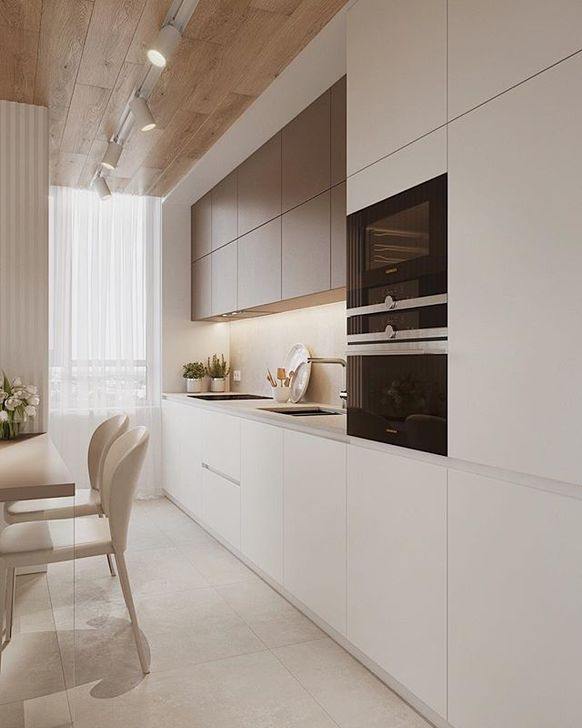 Inspiring Neutral Kitchen Design Ideas 35