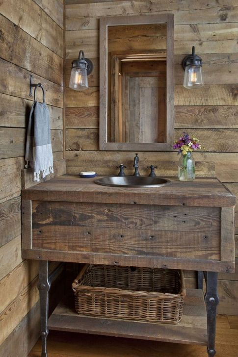 Inspiring Rustic Farmhouse Bathroom Decorating Ideas 09