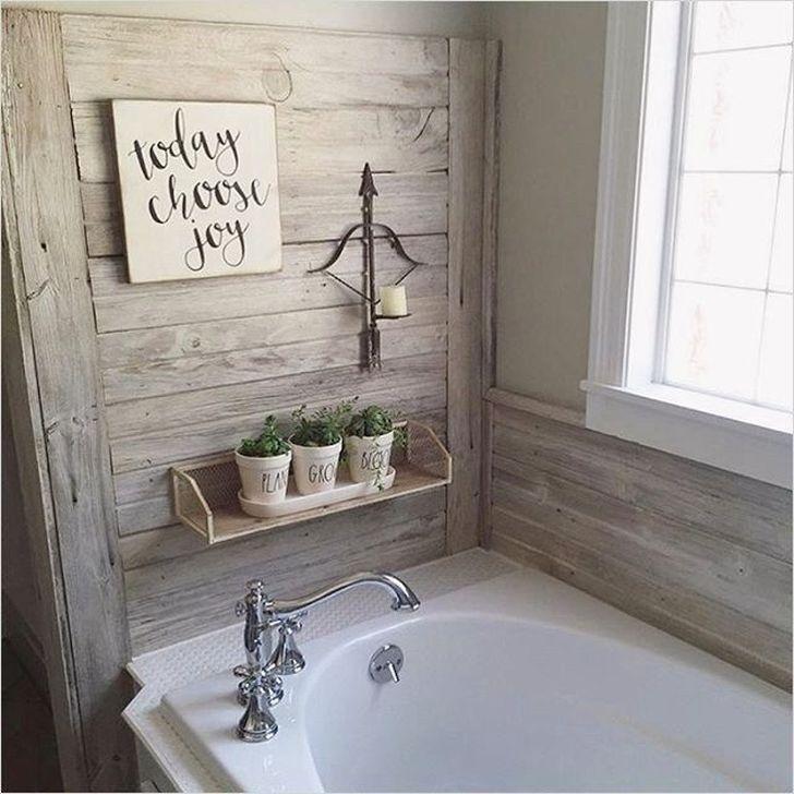 Inspiring Rustic Farmhouse Bathroom Decorating Ideas 18