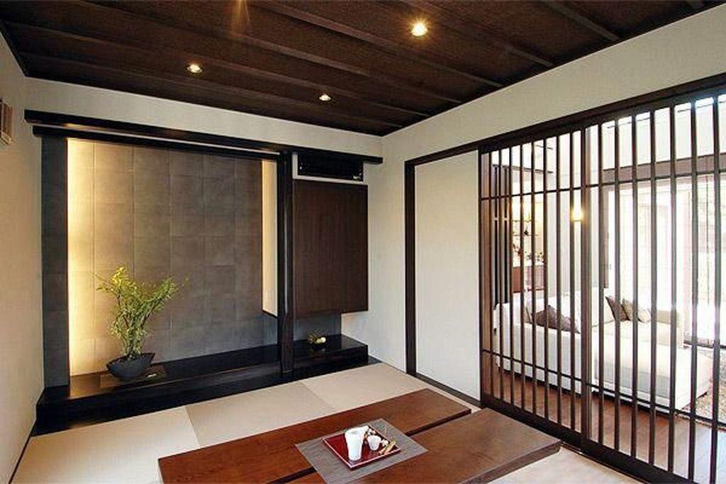 Lovely Japanese Living Room Decor Ideas 14