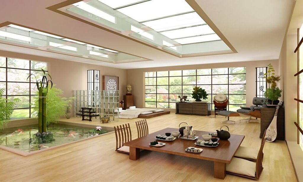 Lovely Japanese Living Room Decor Ideas 26