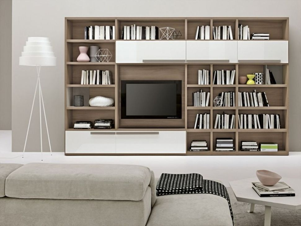 Stunning Bookshelves Design Ideas For Your Living Room Decoration 01
