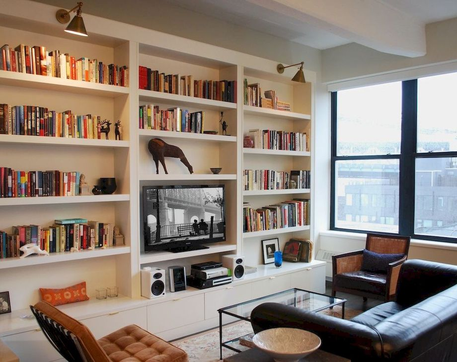 Stunning Bookshelves Design Ideas For Your Living Room Decoration 10