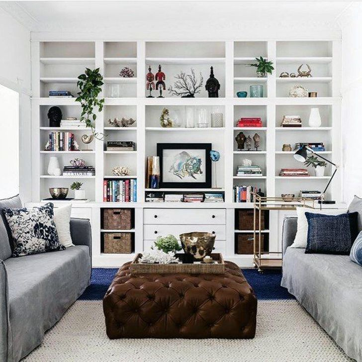 Stunning Bookshelves Design Ideas For Your Living Room Decoration 18