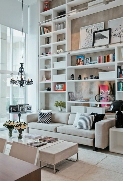 Stunning Bookshelves Design Ideas For Your Living Room Decoration 19