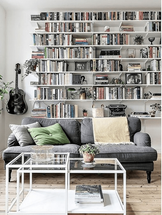 Stunning Bookshelves Design Ideas For Your Living Room Decoration 23