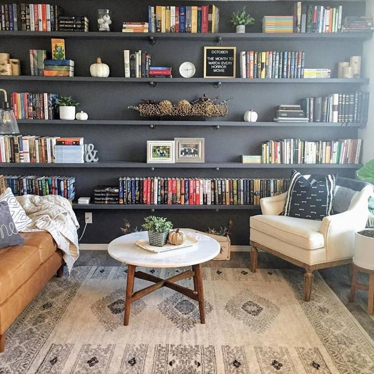 Stunning Bookshelves Design Ideas For Your Living Room Decoration 24