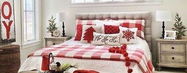 Amazing Farmhouse Style Christmas Bedroom Ideas 26