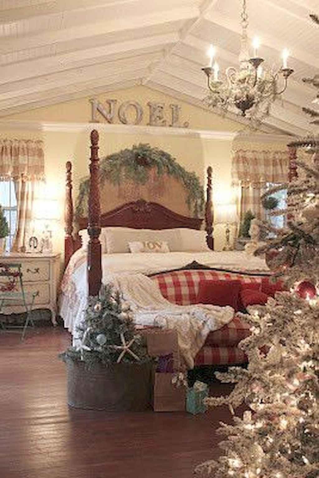 Amazing Farmhouse Style Christmas Bedroom Ideas 35