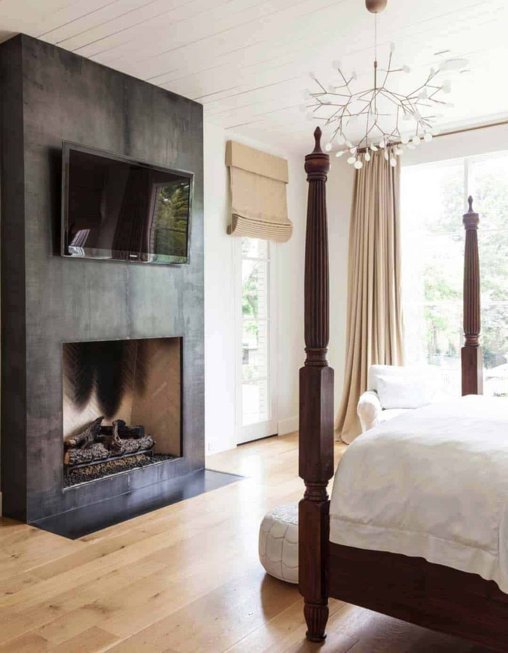 Awesome Bedroom Design With Fireplace Ideas Perfect For This Winter 30