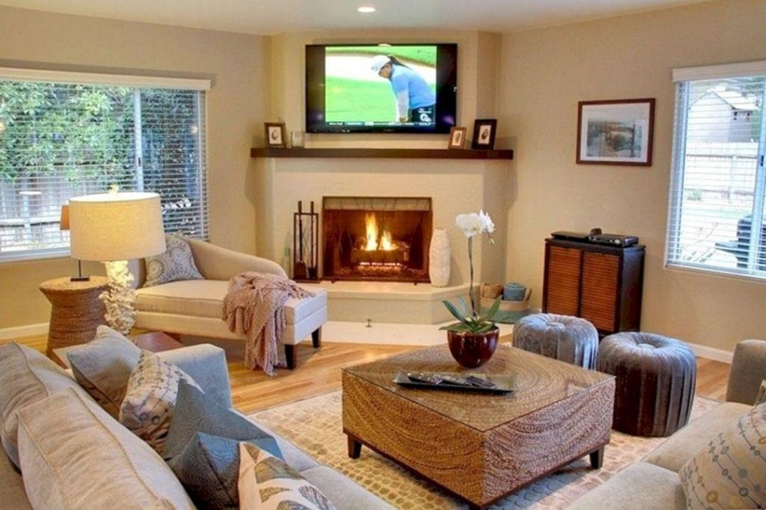 Beautiful Corner Fireplace Design Ideas For Your Living Room 13