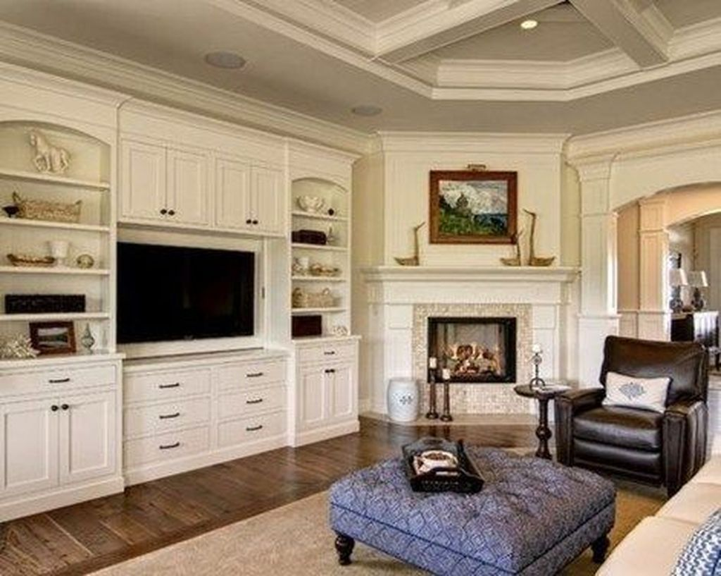 Beautiful Corner Fireplace Design Ideas For Your Living Room 15