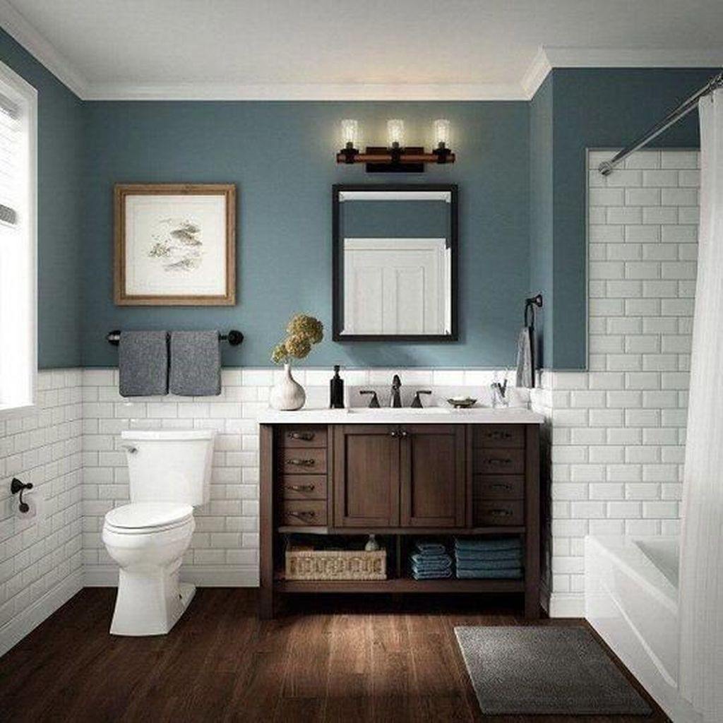 Lovely Winter Bathroom Colors 05