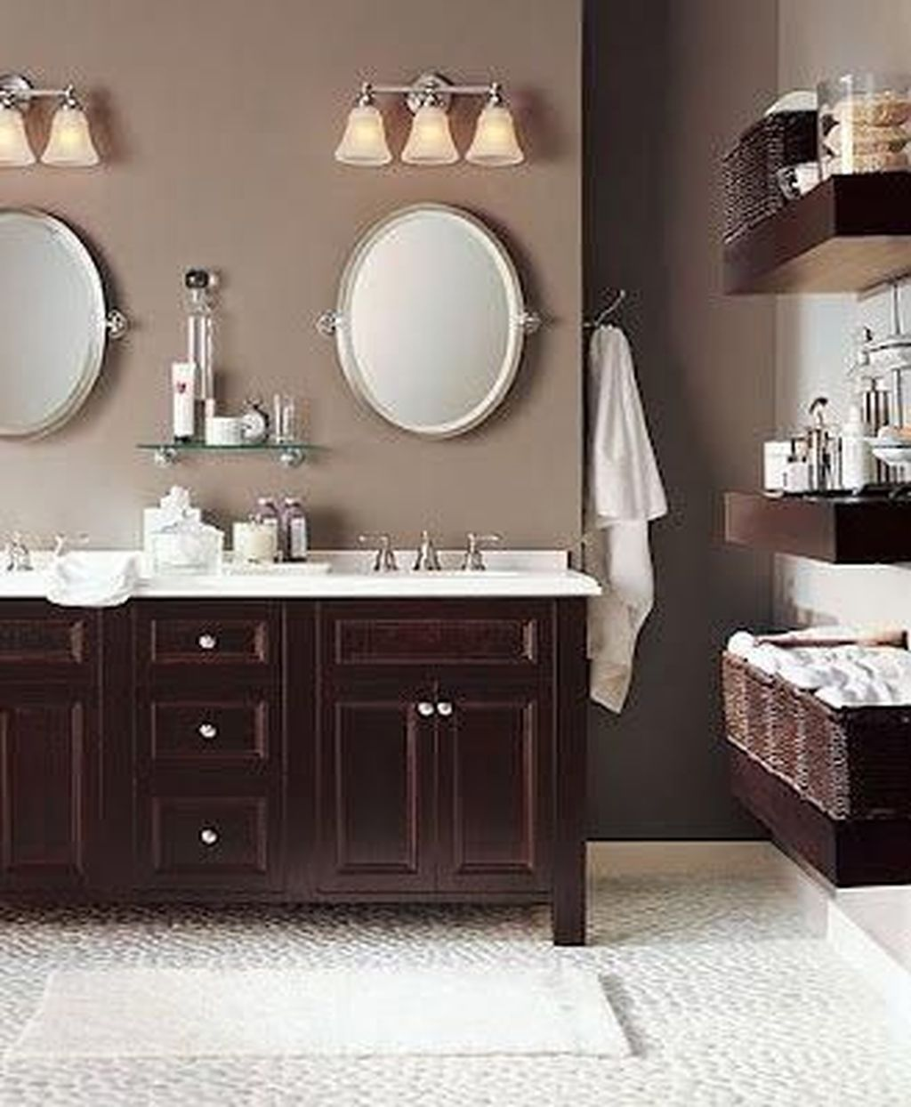 Lovely Winter Bathroom Colors 13