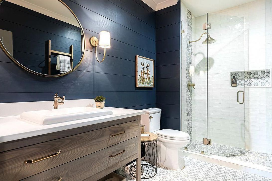 Lovely Winter Bathroom Colors 23