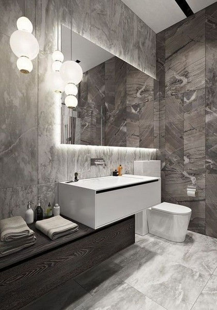 Lovely Winter Bathroom Colors 25