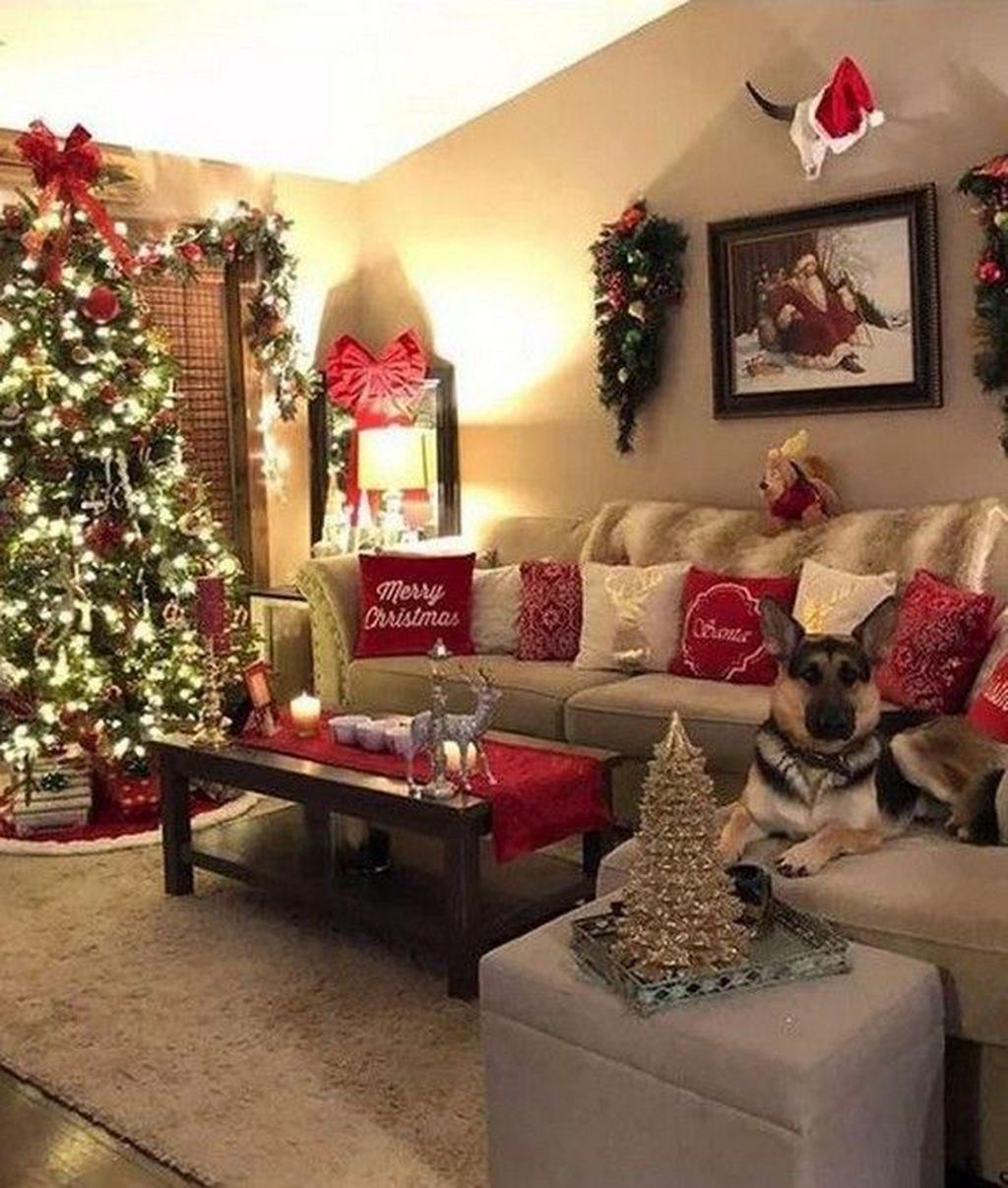Nice Christmas Decoration Ideas For Apartment 06