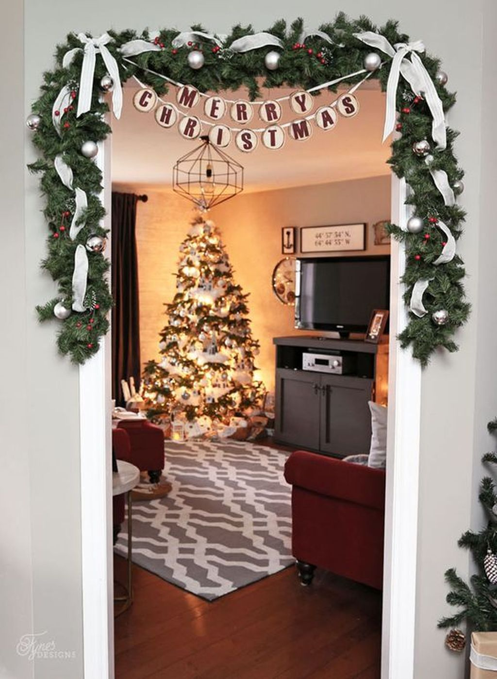 Nice Christmas Decoration Ideas For Apartment 34