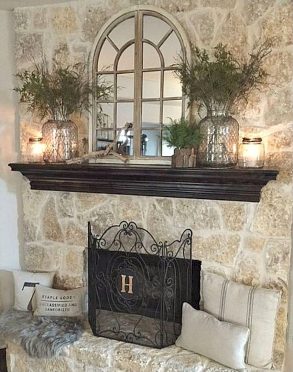 Stunning Fireplace Mantel Decor Ideas You Should Copy Now 13