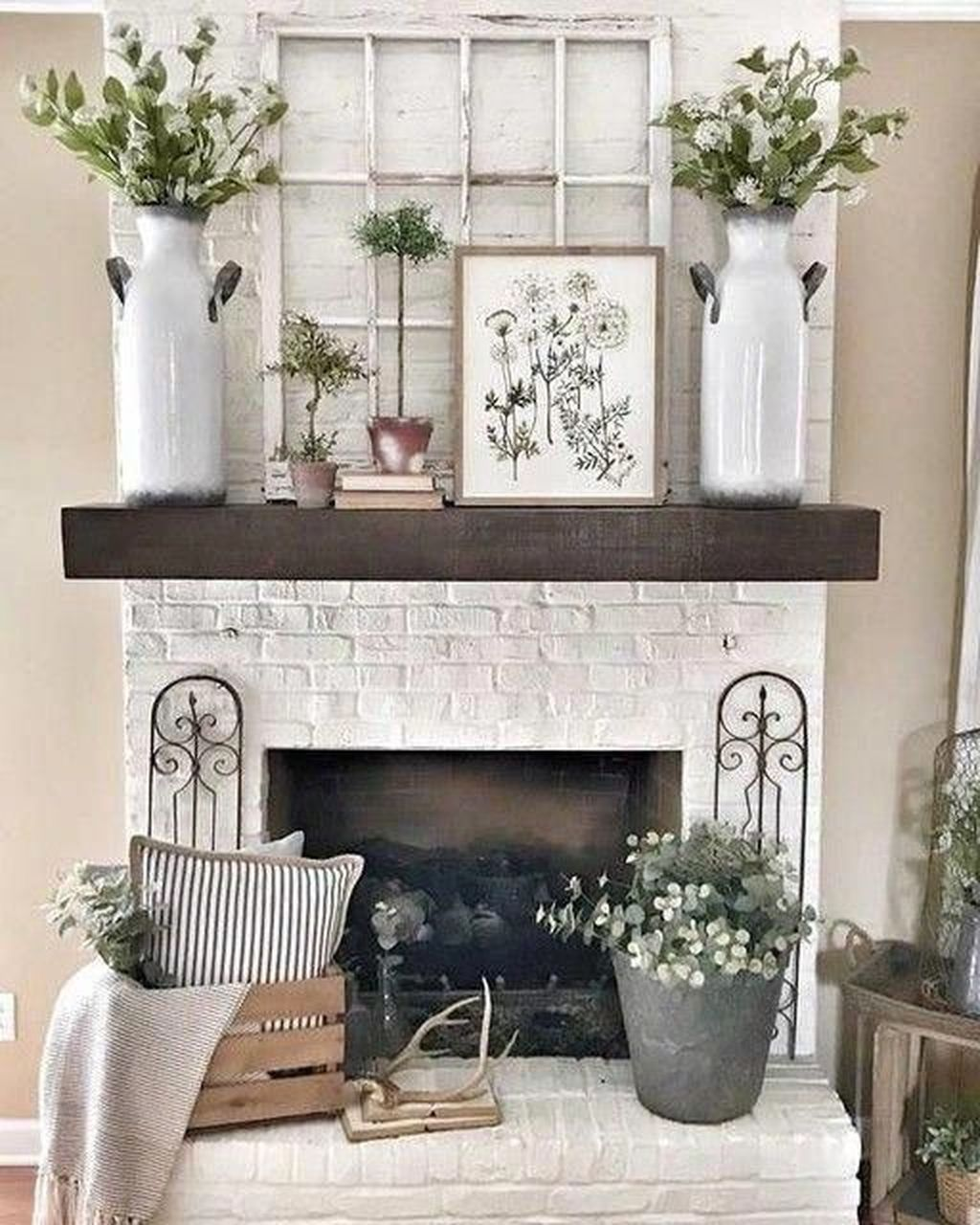 Stunning Fireplace Mantel Decor Ideas You Should Copy Now 23