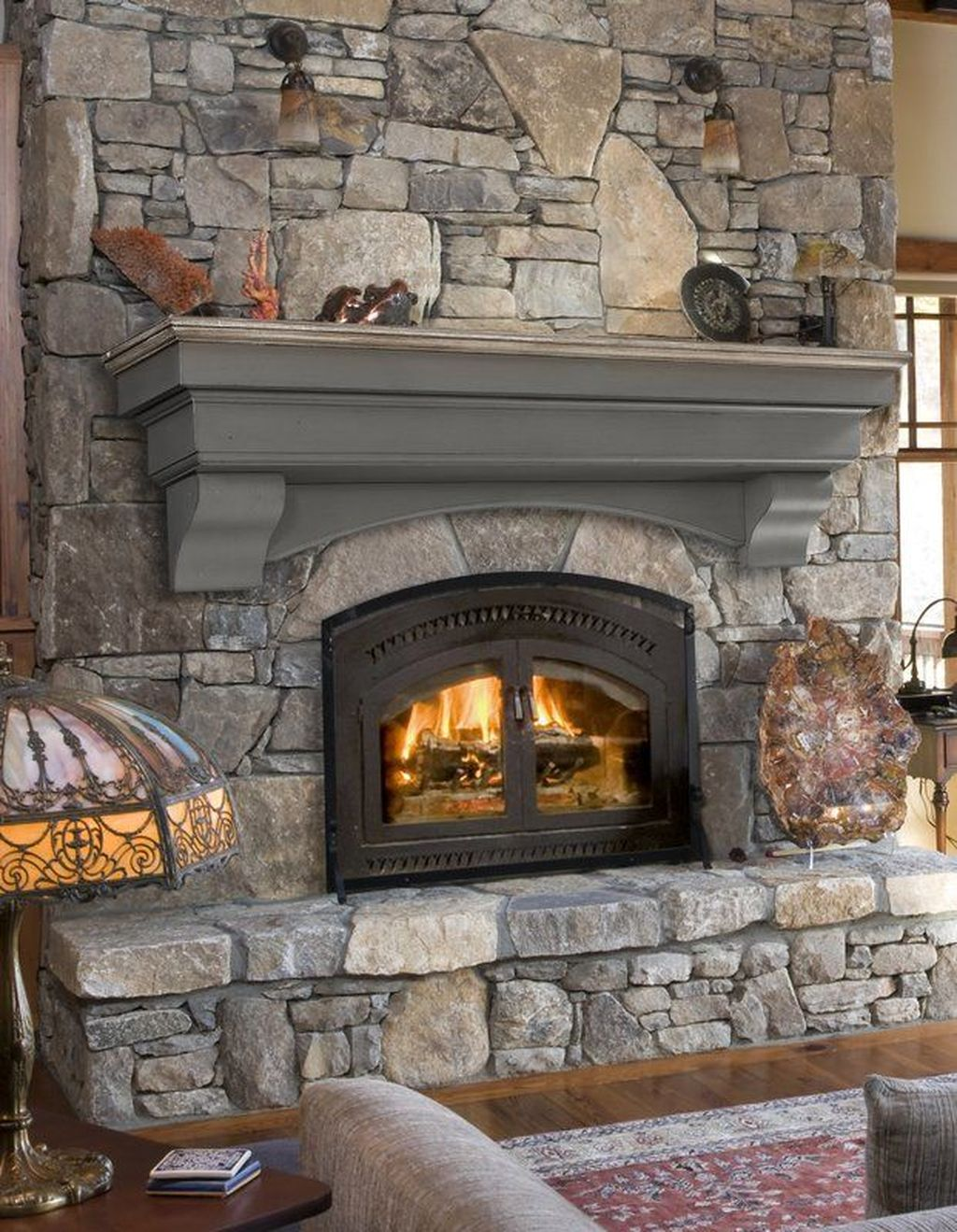 Stunning Fireplace Mantel Decor Ideas You Should Copy Now 25