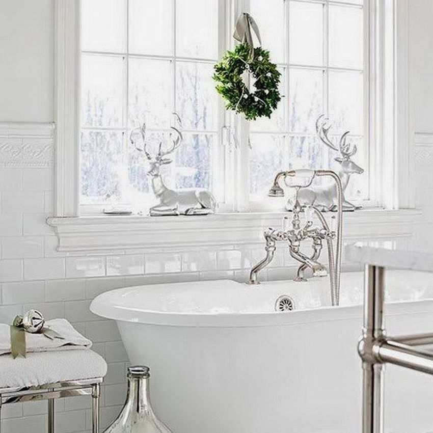 Stunning Winter Bathroom Decor Ideas 30