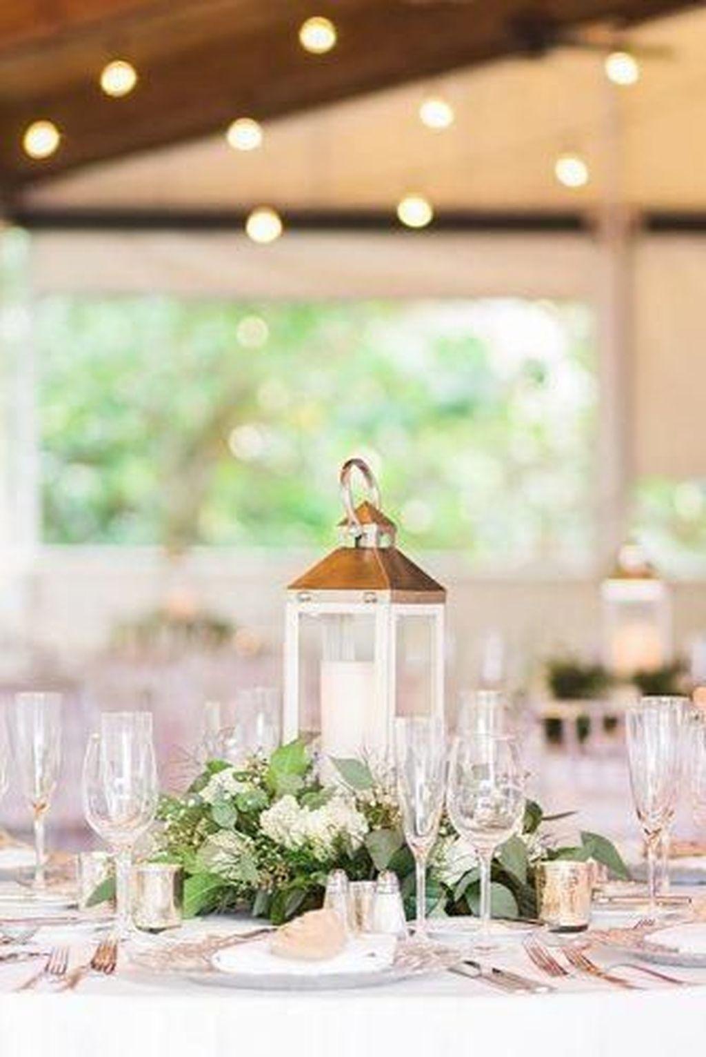 Stunning Winter Lantern Centerpieces For Wedding 07
