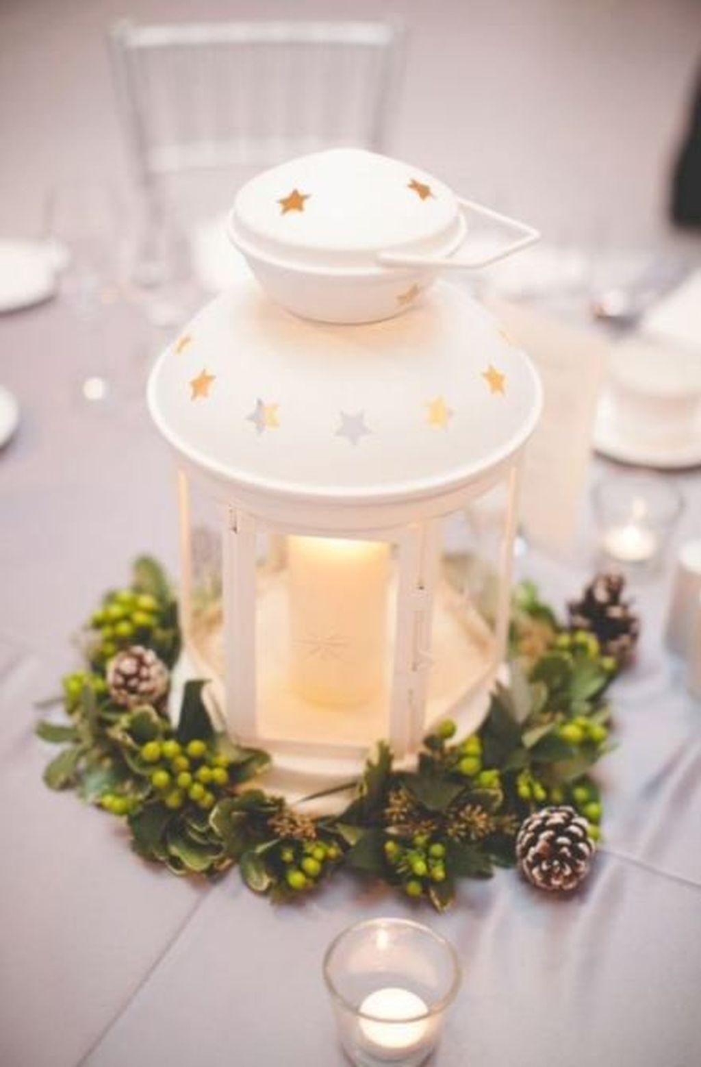 Stunning Winter Lantern Centerpieces For Wedding 10