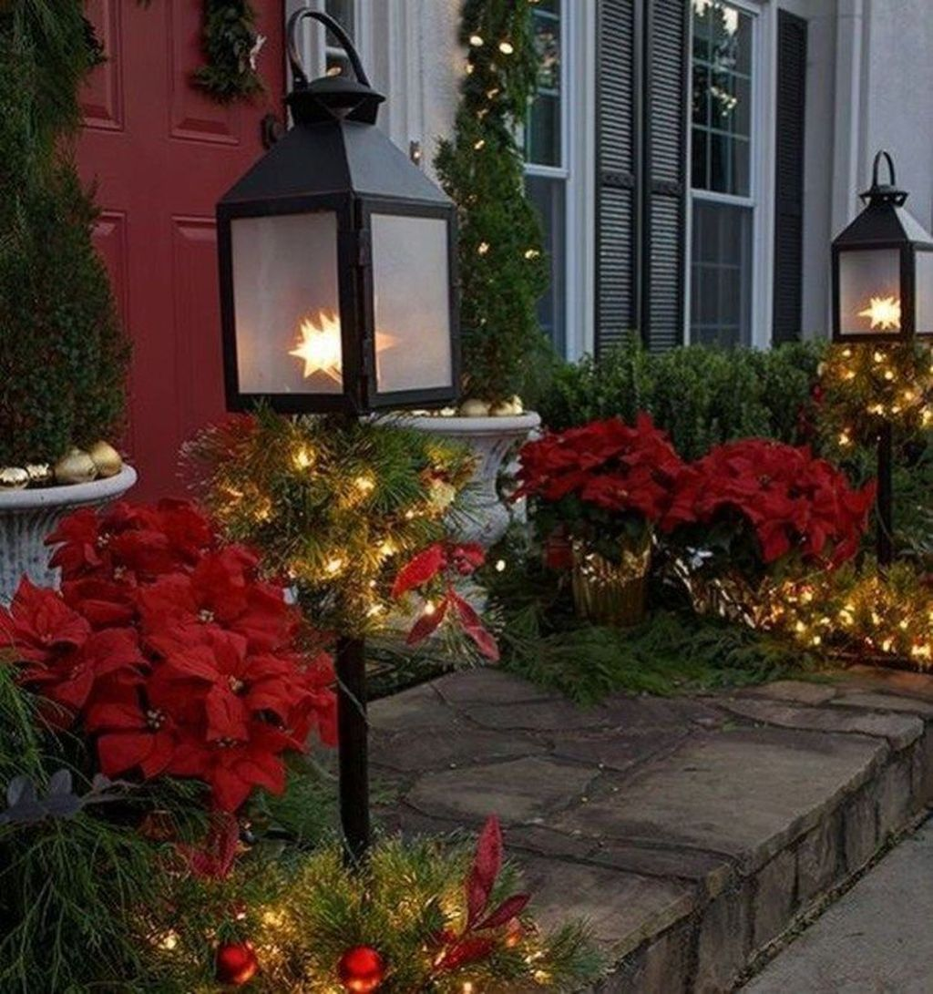 The Best Christmas Lanterns Outdoor Ideas Best For Front Porches 18