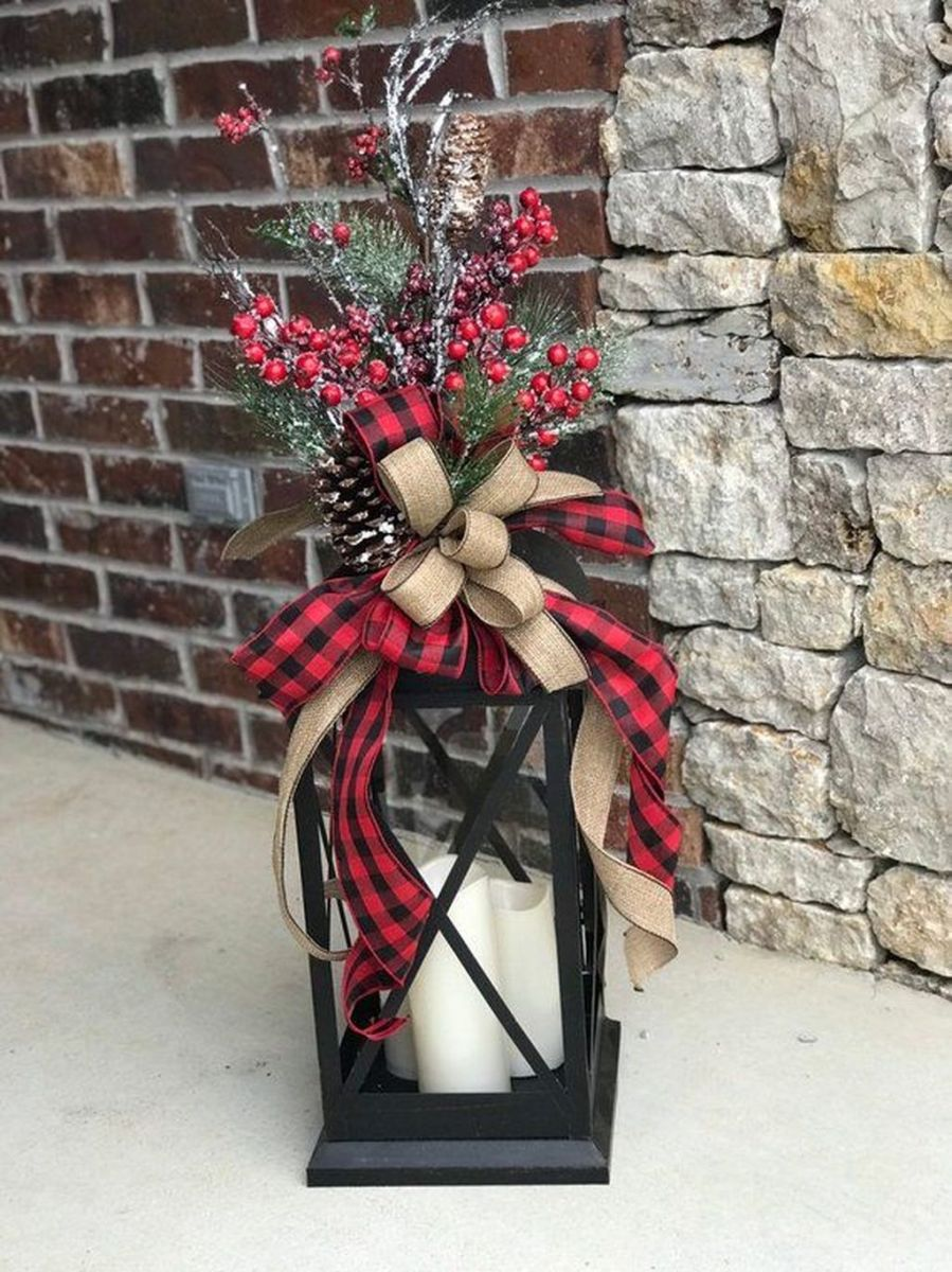The Best Christmas Lanterns Outdoor Ideas Best For Front Porches 35