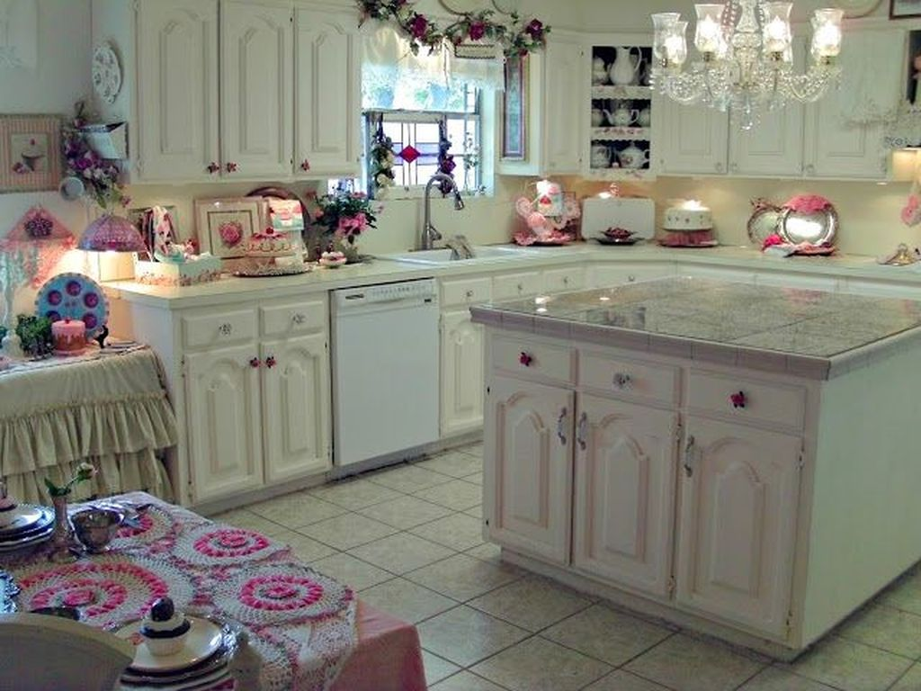 Lovely Romantic Kitchen Decorating Ideas 13