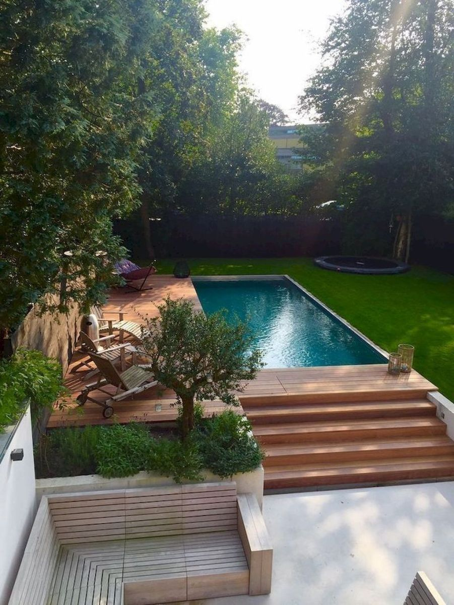 Beautiful Small Pool Backyard Landscaping Ideas Best For Spring And Summertime 29