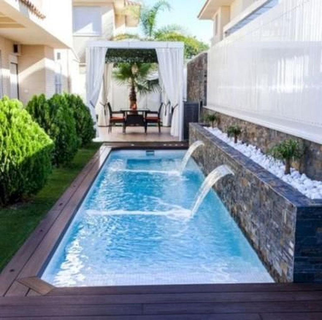 Beautiful Small Pool Backyard Landscaping Ideas Best For Spring And Summertime 31