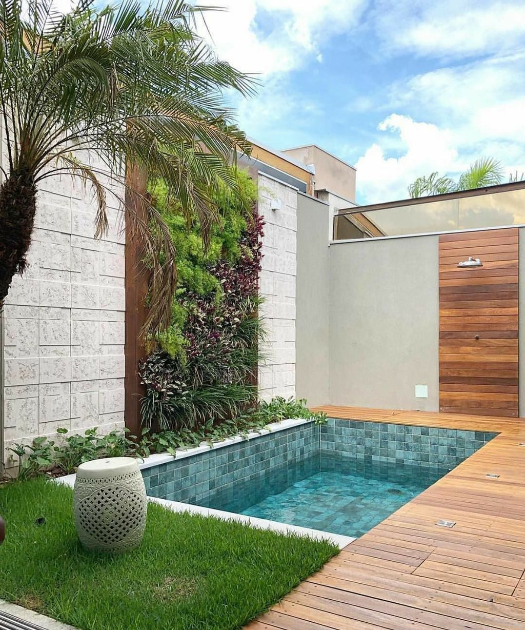 Beautiful Small Pool Backyard Landscaping Ideas Best For Spring And Summertime 36
