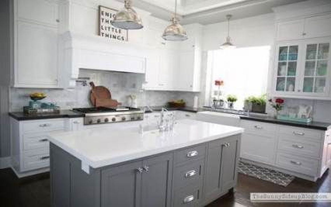 Stunning Grey And White Kitchen Color Ideas Match With Any Kitchen Design 06