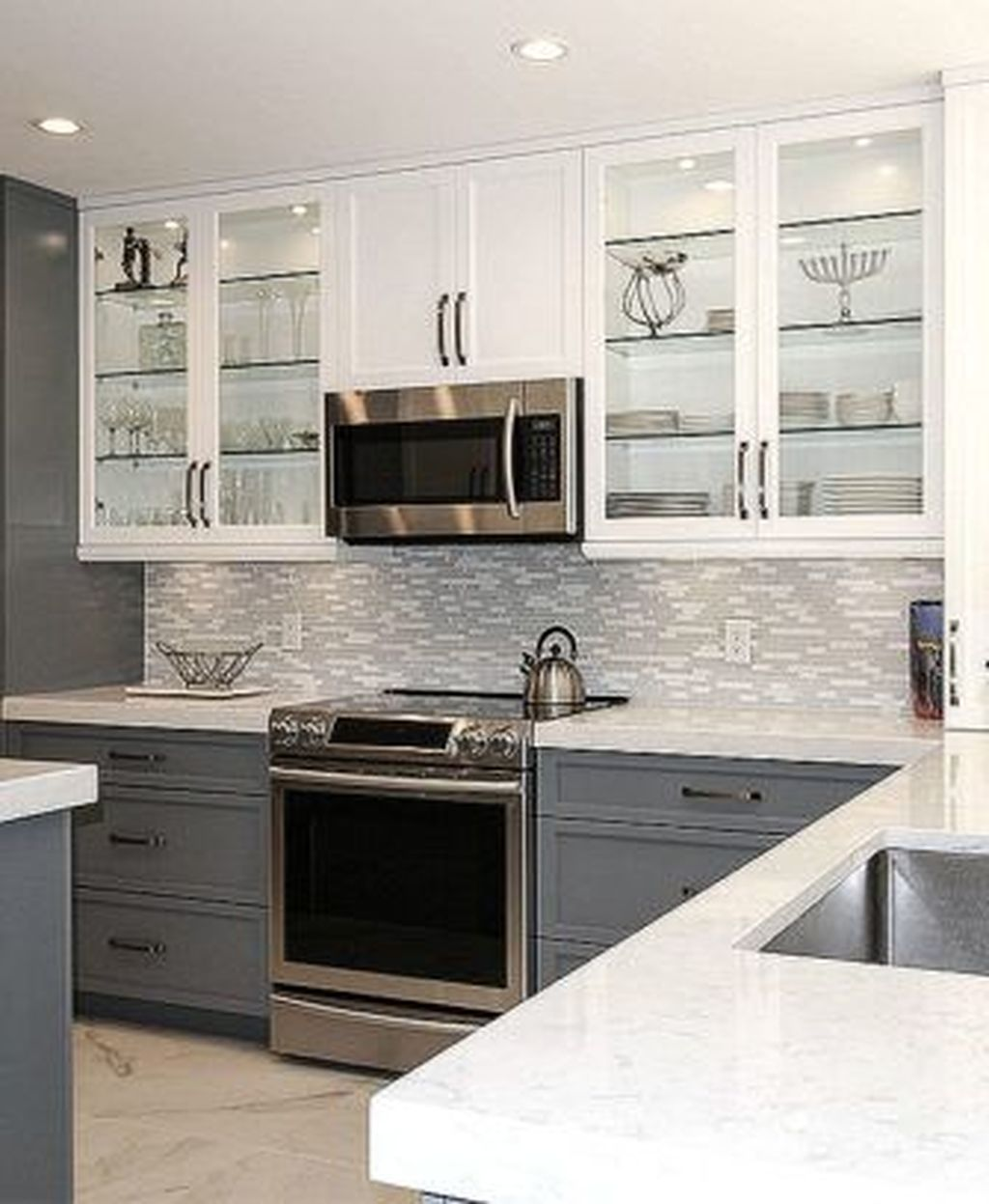 Stunning Grey And White Kitchen Color Ideas Match With Any Kitchen Design 25