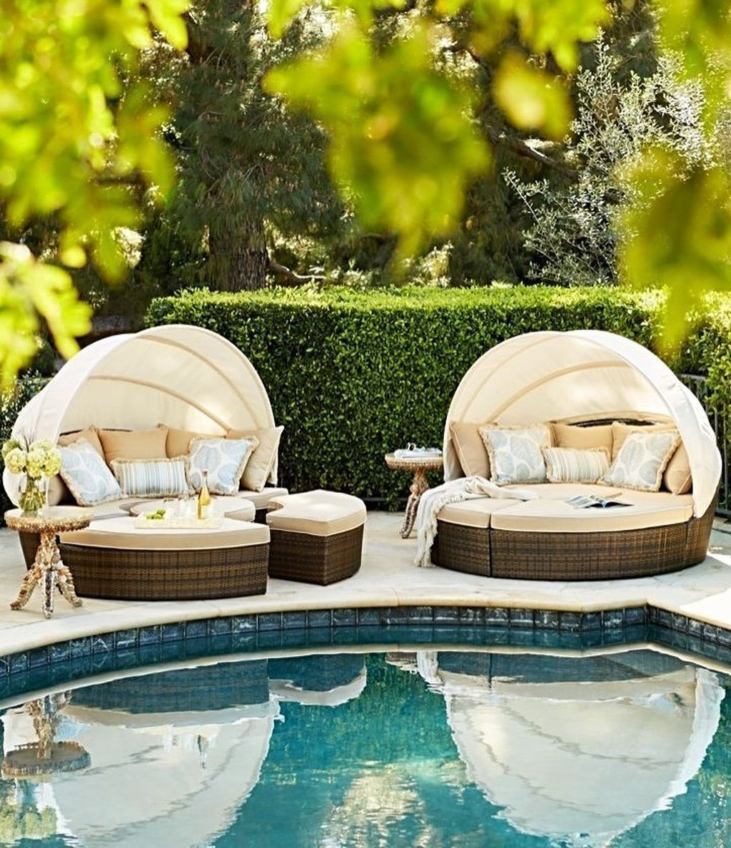 Amazing Pool Seating Ideas Which Are Very Comfortable 08