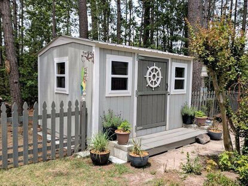 Awesome Backyard Shed Landscaping Ideas 24